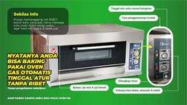 oven gas 1 deck otomatis untuk usaha roti saat pandemi di Tangerang