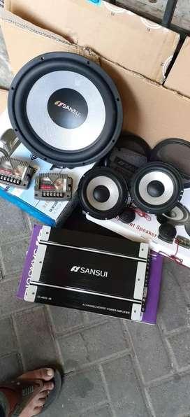 Paket audio suara mantap 1merk sansui