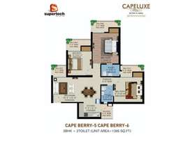 3 BHK Apartment for Sale in Supertech Capeluxe - Sector 74 Noida