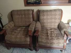 Wood ka  sofa hi 3 seater