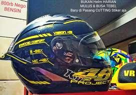 Dijual BU Helm KYT Falcon 2 Full Face Double Visor Mulus, Murah, Jkt