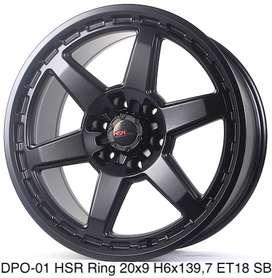 Velg Mobil Ring 20 buat 6x139,7 Matte black HSrwheel