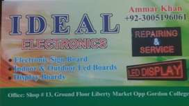 Satellite Dishes/ Speakers Box/ Led Sign & Panel Board. IDEAL ELECTR.