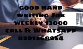 Pepar Hand Writing job capital letters home based job