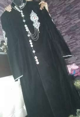 Black New condition sherwani available discount price..