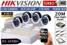 2.0 mp 1080p cctv siap untuk pasang di rumah anda