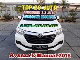 Toyota Avanza E Manual 2018/2019,TDP 20 Jt angs.3,3 JT paket promo