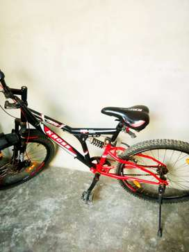 Krosss red and black bicycle