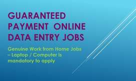 Guaranteed Payment Data Entry jobs-Part Time/ Full time job -Apply NOW
