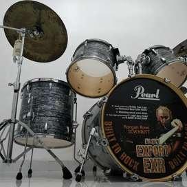 Pearl EXR Export Series Black Strata Drum Set - Mulus - Tangan Pertama