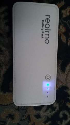 real me power bank with 3.7 v and with 20000 mah