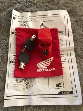 Gembok Cakram Disc Lock Ori Honda AHM Anti Maling