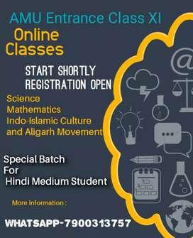AMU CLASS XI ENTRANCE ONLINE CLASS Registration Free
