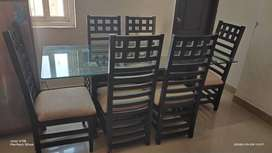 A strong built and beautiful Durian Dinning Table on sale due2 Transfe