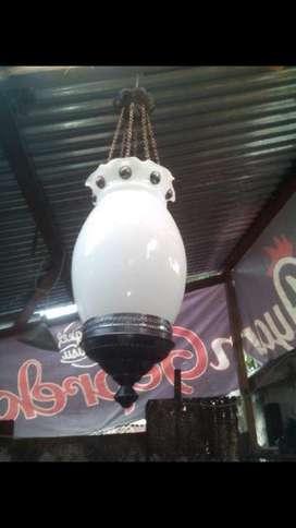 Lampu gantung antik kuningan asli hias jawa joglo sinom lawasan murah