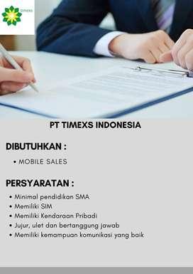 Lowongan Kerja Mobile Sales Wilayah Semarang PT Timexs Indonesia
