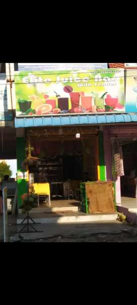 juice shop for sale.advance 500000 refundable+200000 things