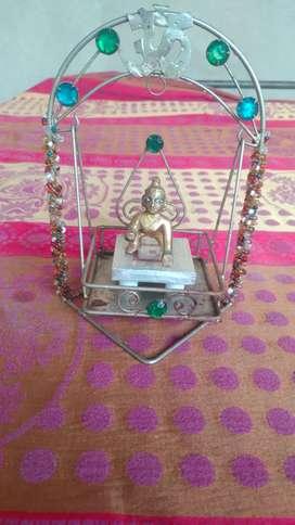Laddu gopal with jhula