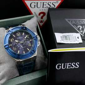Guess Pria W0040G7 Navy Blue Leather Original
