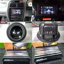 Paket HU Kenwood ddx419bt + power subwoofer