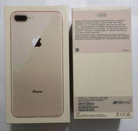Original Iphone 8plus Gold 256gb. PTA approved. 10/10 mint condition..
