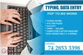 Do Work At Home and Earn Highest Income with E- Book Typing Projects