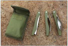 Yougle Sendok Garpu Pisau Swiss Army Military Camping Tools Pocket Kni