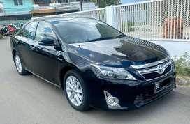 Camry Hybrid AT 2013 hitam dp 55jt,tangan 1 km 38rb eks dokter mantull