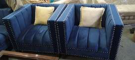 New sofa set Seven Seater in imported fabric Cushioning tufted