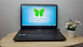 Laptop Asus ROG G751J Intel Core i7 Dual VGA  Layar Super Gede 17inc