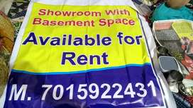 Available for rent space one is ground floor and basement.