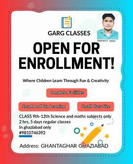 Class 9-12th Science and maths teacher online and offlline Institute