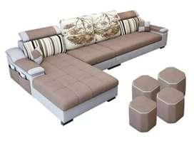 L set sofa set with warranty