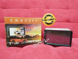 Double Din 7 inch EMBASSY Deckless Mirrorlink MP4 MP5 Head Unit Mobil