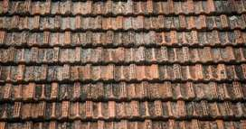 Old clay tiles for roofing