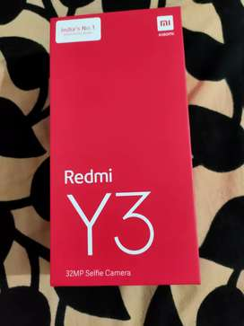Redmi y3 3-32gb red colour seal pack