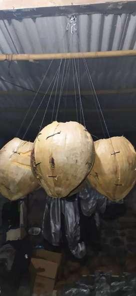 pot sabut kelapa gantung natural