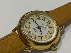 NEW OLD STOCK,1980's,CASUAL FELCA GOLD PLATED LADIES WATCH,