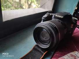 Sony A58 DSLR with Tele Lens 55-200 and Macro 18-55 for sale.