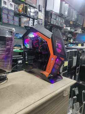 RGB Side Glass Gaming Case with 7 RGB Fans Installed