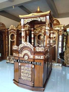 Ready Mimbar Masjid Material Kayu Jati Berkualitas #627
