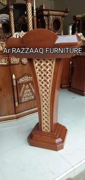 Mimbar kayu jati Ar Razzaq -0170