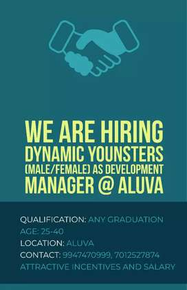 Required graduated Male and Female candidates age between 25 to 40