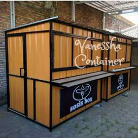 BOOTH SEMI CONTAINER / CONTAINER USAHA / CONTAINER BURGER / CONTAINER