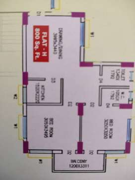 800 sqft flat, ready to move, at affordable price