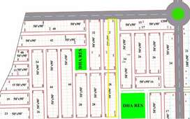 1 Kanal Corner Golden Plot DHA Peshawar Plot