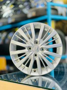 """15"""" latest Honda City OEM Alloys set of 4 only just 80kms used"""