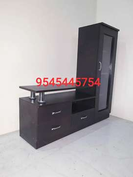Brand New Black Wengy Finish 4*4 Size Tv unit in Factory rate