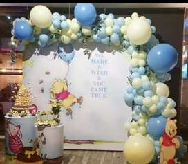 Balloons decoration and Jamping castle Birthday decoration Theme party