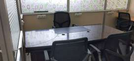 7 seater office space with MD table and chairs Near Begumpet